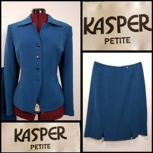 Kasper woman Skirt blazer Suit Size 10